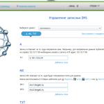 Управление DNS,MX,TXT